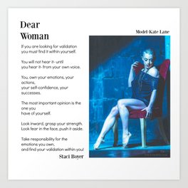 Dear Woman - Validation Art Print