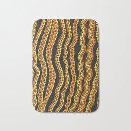 Aborigine abstract 8 Bath Mat