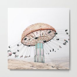 Mushroom Carousel Metal Print