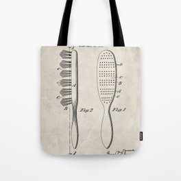 Hair Brush Patent - Salon Art - Antique Tote Bag