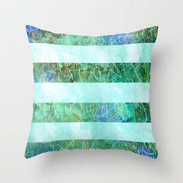 Turquoise Stripes Throw Pillow
