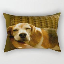 Sleepy Beagle Rectangular Pillow