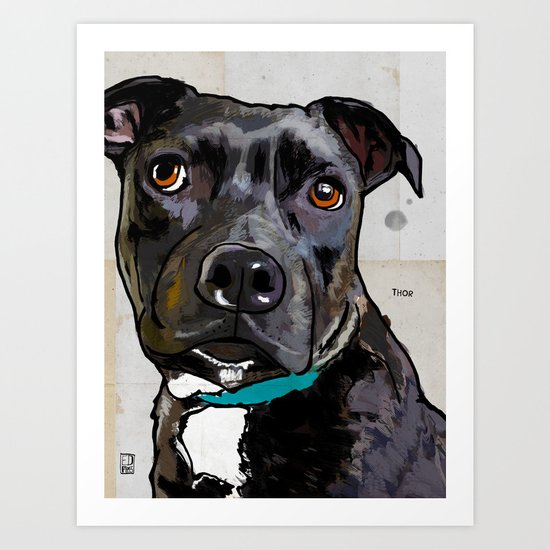 Dog: Staffordshire Bull Terrier Art Print