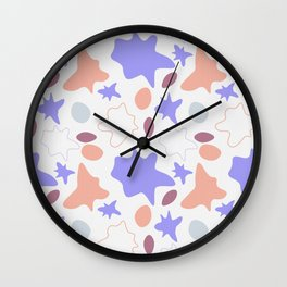 Abstract color spots splatters Wall Clock