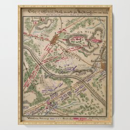 Vintage Map of The Battle of Chantilly (1865) Serving Tray
