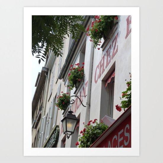 Chez Eugène Montmartre Art Print