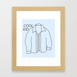 Cool Kid Jacket Framed Art Print
