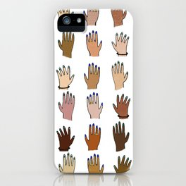 Raise your hand for equal rights iPhone Case