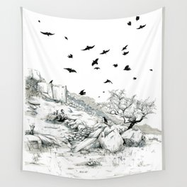 Aly and the Crows Wall Tapestry