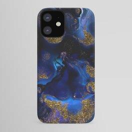 Gold and Indigo Malachite Marble iPhone Case