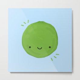 Kawaii Lime Metal Print