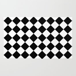 Contemporary Black & White Gingham Pattern - Mix and Match Rug