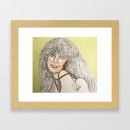 Voice As Big As The House  Linda Rondstadt Series 1 Framed Art Print