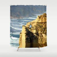 geology Shower Curtains featuring Key Hole Rock #2 by Chris' Landscape Images & Designs