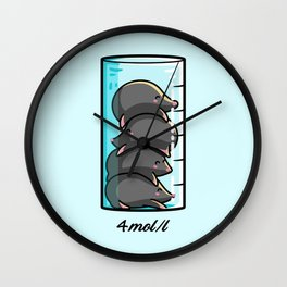 Moles Per Litre Cute Chemistry Science Joke Wall Clock
