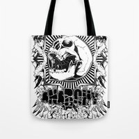 anarchy Tote Bags featuring Anarchy scream by Tshirt-Factory