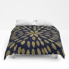 Mandala Flower #1 #gold #drawing #decor #art #society6 Comforters
