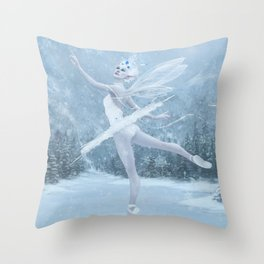Snow Dancer Throw Pillow