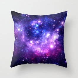 Purple Blue Galaxy Nebula Throw Pillow