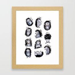 Hedgehogs Days Framed Art Print