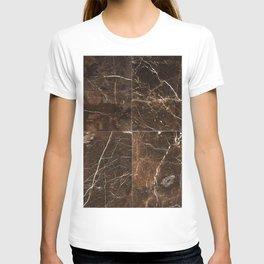 Brown Granite Squares T-shirt