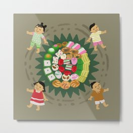 Indonesian Marketplace Nibbles Metal Print