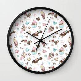Paw Parfait Pattern Wall Clock