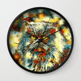 AnimalArt_Cat_20170913_by_JAMColorsSpecial Wall Clock