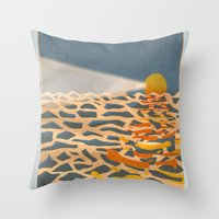 lighthouse Throw Pillows featuring lighthouse by gazonula