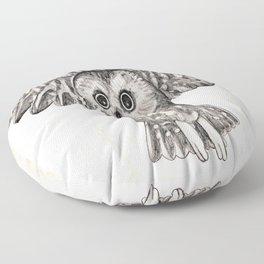 Saw Whet Owl Floor Pillow
