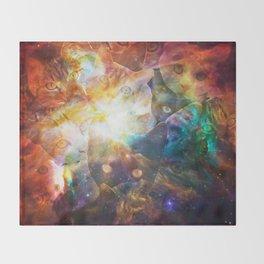 The Cat Galaxy Throw Blanket