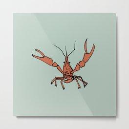 Mr. Crawfish Metal Print