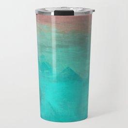 Sunset Over Lagoon Abstract Painting Travel Mug