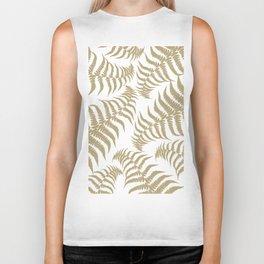 Fern Leaves Pattern - Golden Dream #2 #ornamental #decor #art #society6 Biker Tank