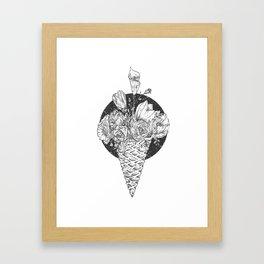 Flower Cream Framed Art Print