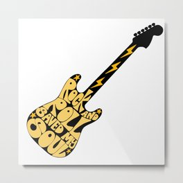 Rock and Roll Stole the Show Metal Print