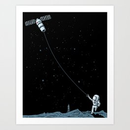 Satellite Kite Art Print