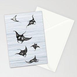 Manta rays in flight Stationery Cards