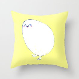 Golden Egg Legs Throw Pillow