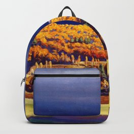 Golden Autumn landscape painting by Rockwell Kent Backpack
