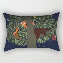 Forest Animals Friendship Day Rectangular Pillow