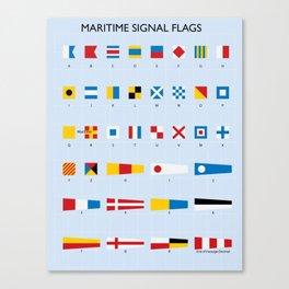 Maritime Signal Flags Poster Canvas Print