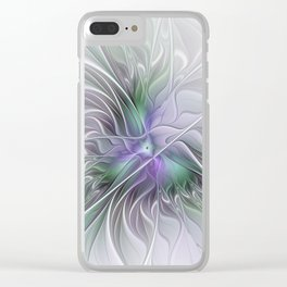 Abstract Floral Fractal Art Clear iPhone Case