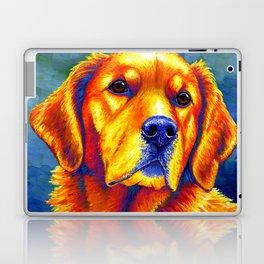Colorful Golden Retriever Dog Portrait Laptop & iPad Skin