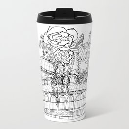 Conservatory of succulent - Black Metal Travel Mug