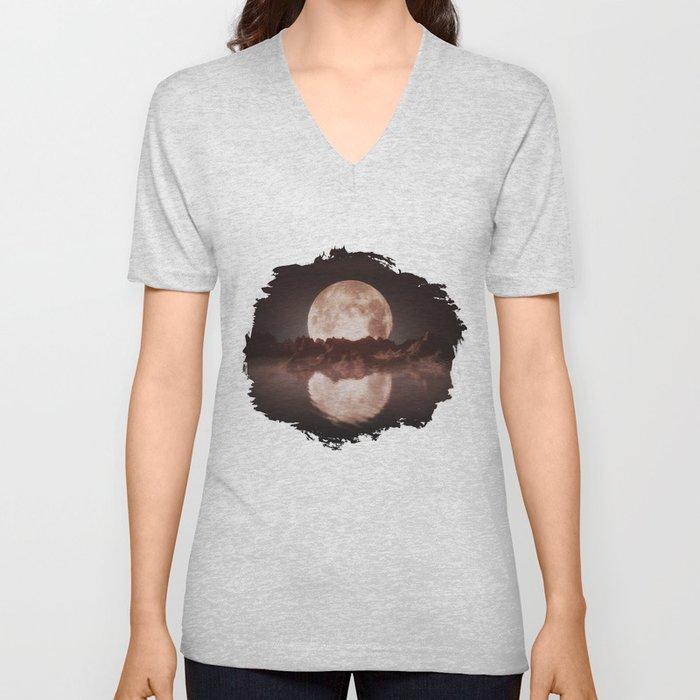 Misty Moon Unisex V-Neck