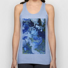 Abstract Nature Acrylic Pour Unisex Tank Top