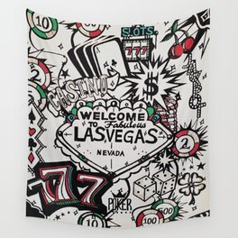 Welcome to Vegas Wall Tapestry