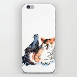 Pigeon and Cat iPhone Skin