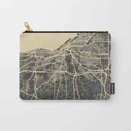 Cleveland map yellow Carry-All Pouch